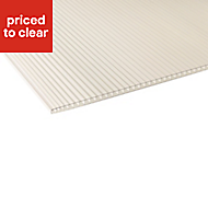 Clear Polycarbonate Roofing sheet 1.2m x 610mm