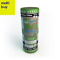 Knauf Eko Roll Loft insulation roll, (L)7.28m (W)1.14m (T)100mm