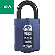 Squire Steel body with hardened steel shackle Combination All-Weather Padlock (W)48mm
