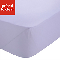 Chartwell Plain dye Wisteria King Fitted sheet