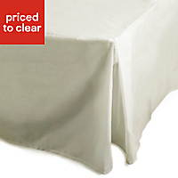 Chartwell Plain dye Cream Single Valance sheet