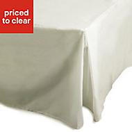 Chartwell Plain dye Cream King size Percale pleat valance sheet