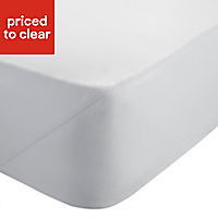 Chartwell Plain dye White Super king Fitted sheet