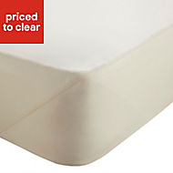 Chartwell Plain dye Cream Super king Deep fitted sheet