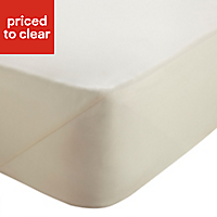 Chartwell Plain dye Cream Super king Fitted sheet