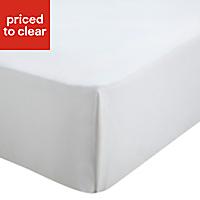 Chartwell Plain dye White Super king Flat sheet