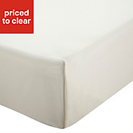 Chartwell Plain dye Cream Super king Flat sheet