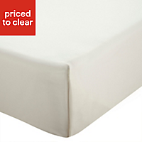 Chartwell Plain dye Cream Super king Flat sheet