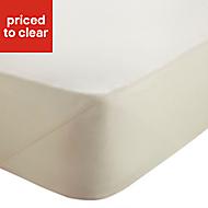 Chartwell Plain dye Cream Super king Fitted sheet