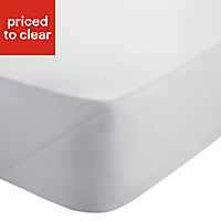 Chartwell Sateen White Super king Fitted sheet