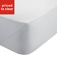 Chartwell Sateen White King size Deep fitted sheet
