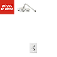 Triton Revere Rear fed Chrome effect Thermostatic Dual control mixer shower