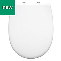 Bemis Push n'Clean White Soft close Toilet seat