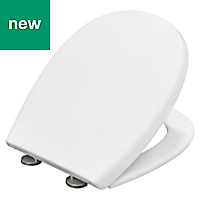 Bemis Push n'Clean White Soft close Toilet seat