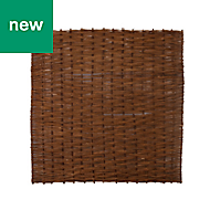 Willow Brown Garden screen (H)1.8m (W)1.8m, Pack of 3