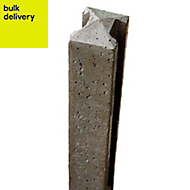 Forest Garden Concrete Fence post (H)2.36m (W)90mm
