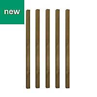 UC4 Timber Fence post (H)1.8m (W)75 mm, Pack of 5