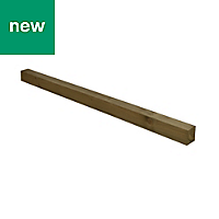 UC4 Timber Fence post (H)1.8m (W)100 mm, Pack of 3