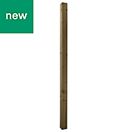 UC4 Timber Fence post (H)2.4m (W)100 mm, Pack of 3