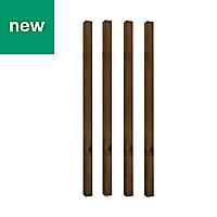 UC4 Brown Timber Fence post (H)1.8m (W)75 mm, Pack of 4
