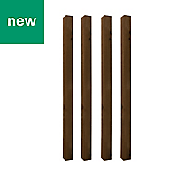 UC4 Brown Timber Fence post (H)1.8m (W)100 mm, Pack of 4