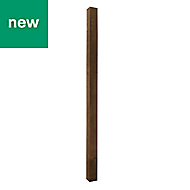 UC4 Brown Timber Fence post (H)2.1m (W)100 mm, Pack of 3