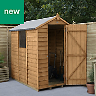 Forest Garden 6x4 Apex Overlap Timber Shed - Assembly service included
