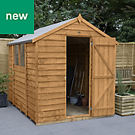 Forest Garden 8x6 Apex Overlap Timber Shed - Assembly service included
