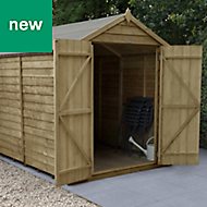 Forest Garden 8x6 Apex Overlap Timber Shed (Base included)
