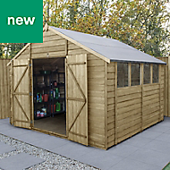 Forest Garden 10x10 Apex Overlap Timber Shed - Assembly service included