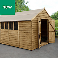 Forest Garden 10x15 Apex Overlap Timber Shed - Assembly service included