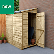 Forest Garden 6x3 Pent Overlap Timber Shed - Assembly service included