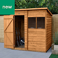 Forest Garden 6x4 Pent Overlap Timber Shed - Assembly service included