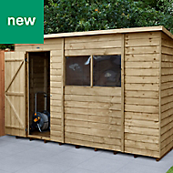 Forest Garden 10x6 Pent Overlap Timber Shed - Assembly service included