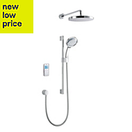 Mira Vision High Pressure Rear fed White Chrome effect Thermostatic Digital mixer shower