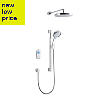 Mira Vision Pumped Rear fed White & Chrome effect Thermostatic Digital mixer shower