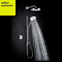 Mira Mode Dual High Pressure Rear fed Chrome effect Thermostatic Digital mixer shower