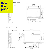Mira Mode High Pressure Rear fed Chrome effect Thermostatic Digital bath fill & mixer shower