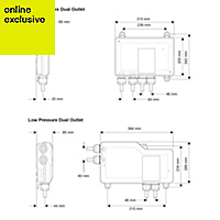 Mira Mode Pumped Rear fed Chrome effect Thermostatic Digital bath fill & mixer shower