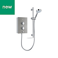 Mira Decor Silver Effect Electric shower, 9.5 kW
