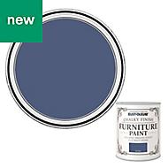 Rust-Oleum Ink blue Flat matt Furniture paint 125ml