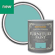 Rust-Oleum Teal Satin Furniture paint 125ml