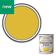 Rust-Oleum Lemon jelly Flat matt Furniture paint 125ml
