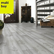 Eurohome Dartmoor Oak effect Laminate flooring, 1.48m² Pack