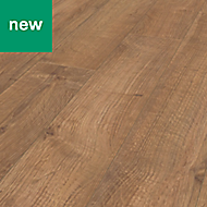 Rostock Natural Oak effect Laminate flooring, 1.48m² Pack