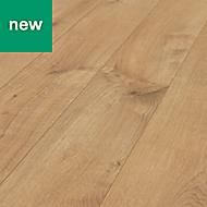 Ravensdale Oak effect Interlocking laminated flooring, 1.48m² Pack