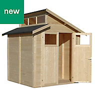 Rowlinson Paramount Buildings 7x7 Pent Tongue & groove Wooden Shed