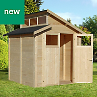 Rowlinson Paramount Buildings 7X7 Pent Tounge & groove Wooden Shed - Base not included