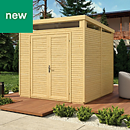 Rowlinson Paramount Buildings 8X8 Pent Tounge & groove Wooden Shed - Base not included