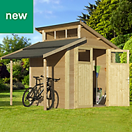 Rowlinson Paramount Buildings 7X10 Pent Tounge & groove Wooden Shed - Base not included